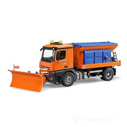 MB Arocs camion spargisale e spazzaneve (03685)