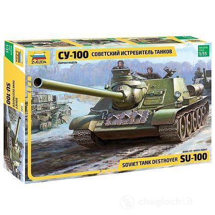 Carro Armato Soviet S.P.Gun SU-100 Scala 1/35 (ZS3688)