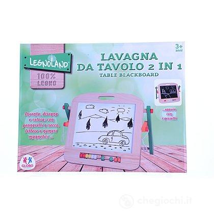 Lavagna da Tavolo in Legno 2 in 1