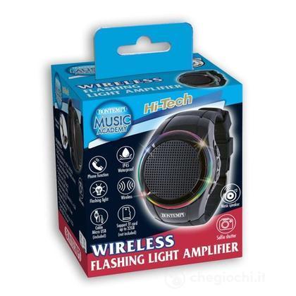 48 1100 - Wireless Watch Amplifier Con Luci A Led  Microfono Integrato