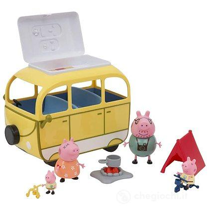 Peppa Pig Camper Playset con 4 Personaggi e Accessori (PPC46)