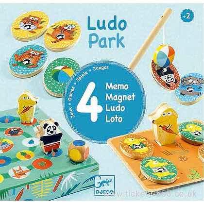 LudoPark - 4 giochi in legno (DJ01698)