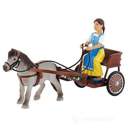 Cavalli - Falabella con carretto (62700)