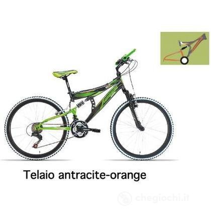 "Bici 24"" Erice Antracite/Orange"