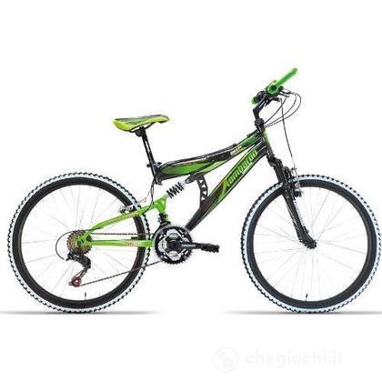 "Bici 24"" Erice Antracite/verde"