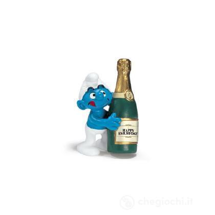 Puffo con bottiglia (20708)