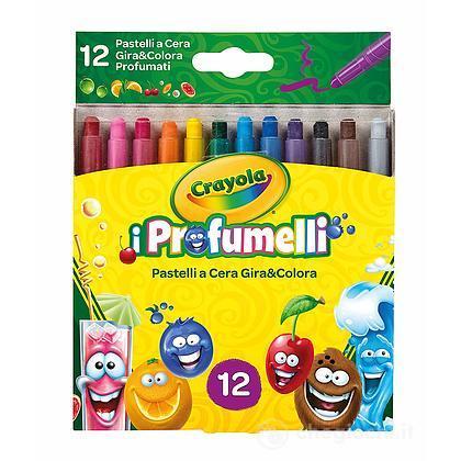 I Profumelli - 12 Pastelli a Cera Gira & Colora Profumati