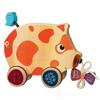 Happy Go Piggy - Maialino Legno (BX1393Z)