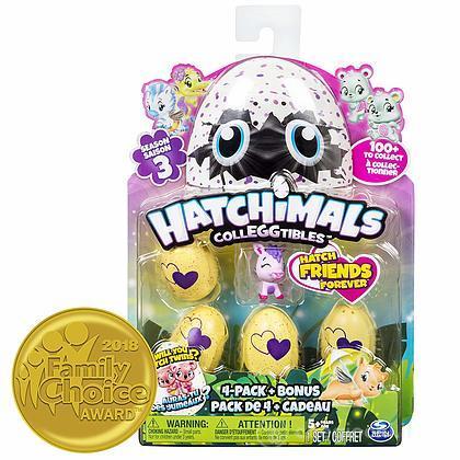 Hatchimals Collezionabili Stagione 3 Confezione da 4 Uova + Bonus (6041341)