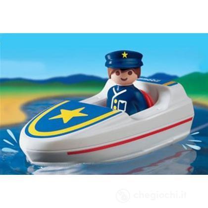 Motoscafo polizia 1.2.3.  (6720)