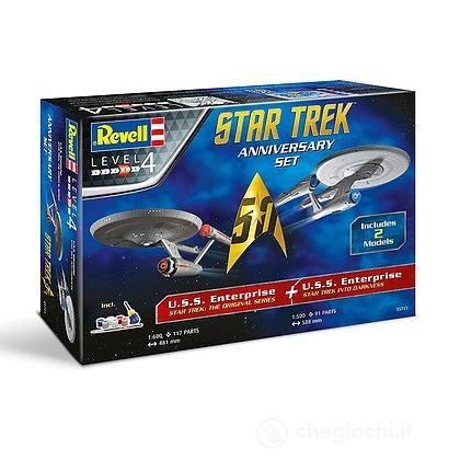 Astronave Enterprise Classic - Enterprise Into Darkness Star Trek. 2 Modelli.Gift Set + colori e colla 1/500 (RV05721)