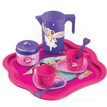 Tea set con vassoio e strass (2722MIA)