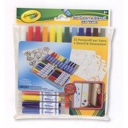 Set Colori & Stencil per vetro (8724)