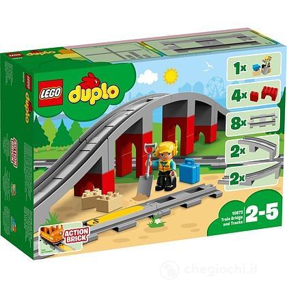 Ponte e binari ferroviari - Lego Duplo (10872)
