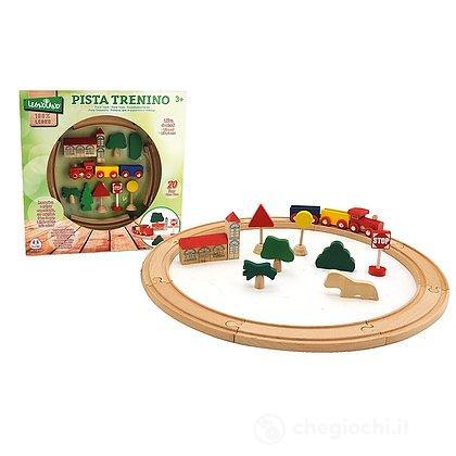 Pista Treno Magnetico in legno 20 pezzi