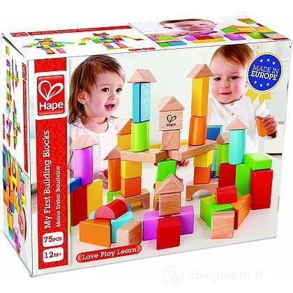 Blocchi in legno 75 pezzi (E5012) - Mattoncini e blocchi - Hape
