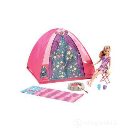 Tenda da campeggio di barbie v4401 casa delle bambole for Accessori per barbie