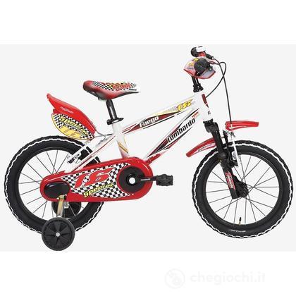 "Bici 16"" Fuego White-red-blu"