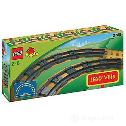 LEGO Duplo - 6 Binari curvi per la ferrovia (2735)