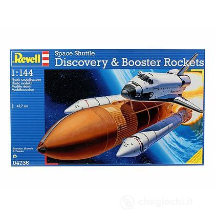 Space Shuttle Discovery & Booster Rocket (04736)