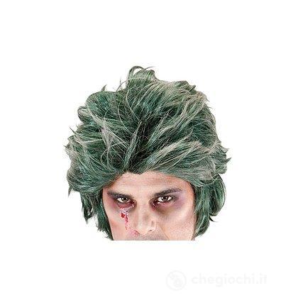 Parrucca Uomo Zombie Verde