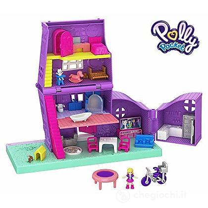 Polly Pocket Casa di Polly, Playset Richiudibile con Bambola e Accessori (GFP42)