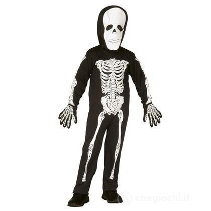 Costume scheletro con maschera 3-4 anni