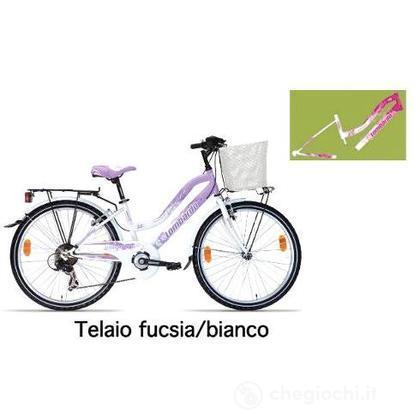 """Bici 24"""" Panarea City Fucsia-White"""