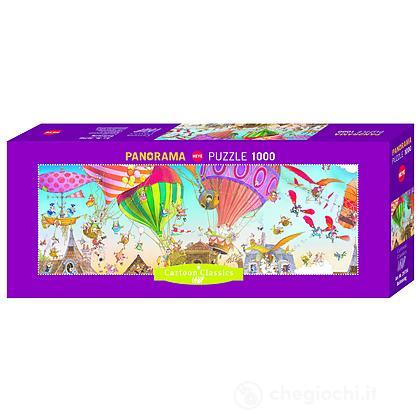 Puzzle 1000 Pezzi Panorama - Mongolfiere