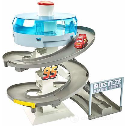 Cars 3 Playset per Mini Racers con Pista da Corsa a Spirale