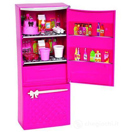 Barbie glam frigorifero arredamenti basic x7937 casa for Accessori per barbie