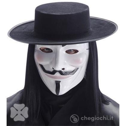 Set Vendetta anonymous maschera e cappello  (6770)