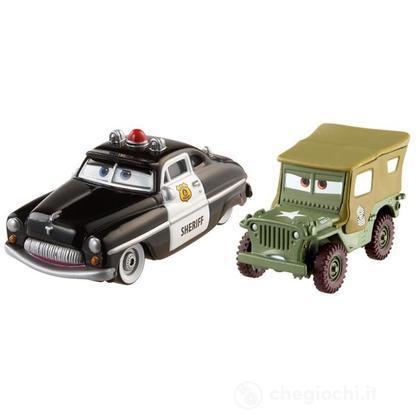 Sheriff e Sarge - Cars confezione da 2 (BDW84)