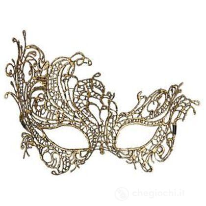Maschera in Pizzo Barocco Antico Oro