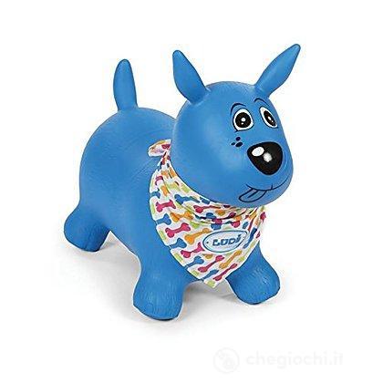 Cagnolino Gonfiabile e Cavalcabile Blu (2776)