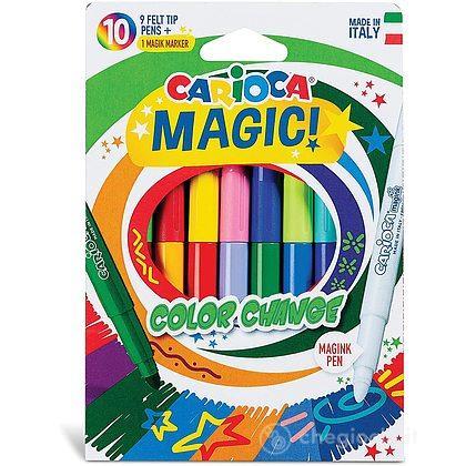 10 Pennarelli Con Colori Trasformabili