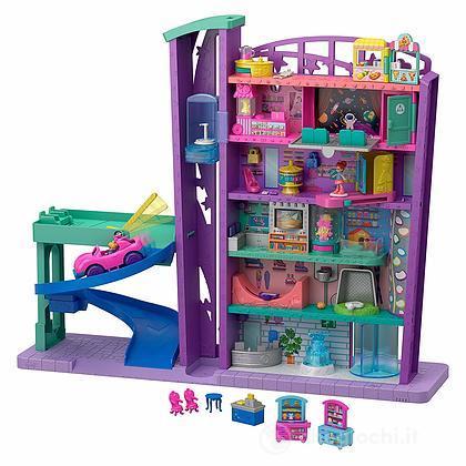 Polly Pocket Mega Mall, Playset Centro Commericale con Due Bambole (GFP89)