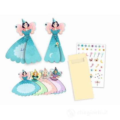 Fairies invitation cards Biglietti invito party fatina (DJ04783)