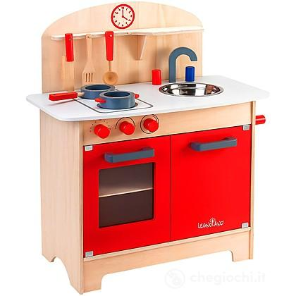 Cucina con accessori legno legnoland 37783 cucina globo giocattoli - Cucina legno bambini usata ...