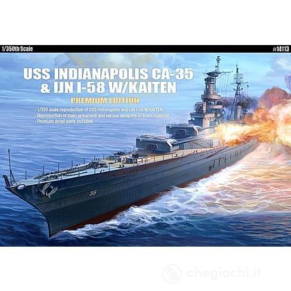 Nave Uss Indianapolis Ca 35 & Ijn I-58 W/Kaiten (AC14113)