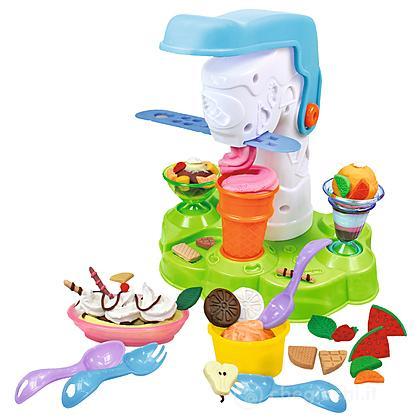 Art&Fun Pasta da modellare crea gelati, 4 vasetti da 50 gr e 15 accessori