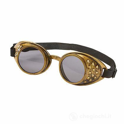 Occhiali Goggles Steampunk Bronzo