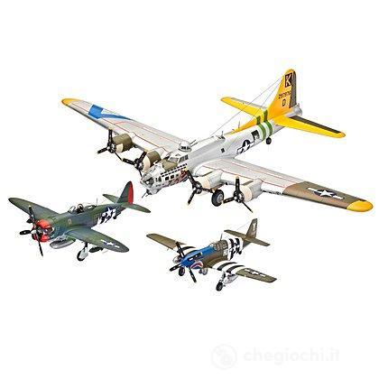 "Gift-Set ""Flying Legends 8th USAAF"" (Aerei B-17G, P-47D, P-51B) (05794)"