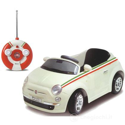 Baby car Fiat 500 r/c colore bianco (494468B)