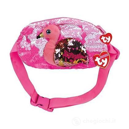 Gilda Marsupio fenicottero rosa glitter