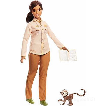Barbie Conservatrice di Biodiversità con Scimmietta National Geographic (GDM48)