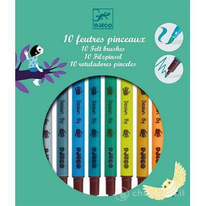 10 Colori con punte in feltro