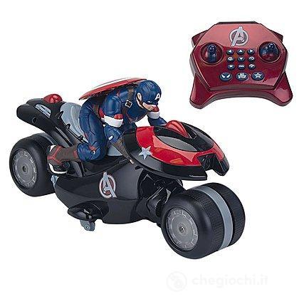 avengers moto u command captain america radiocomandati giochi preziosi giocattoli. Black Bedroom Furniture Sets. Home Design Ideas