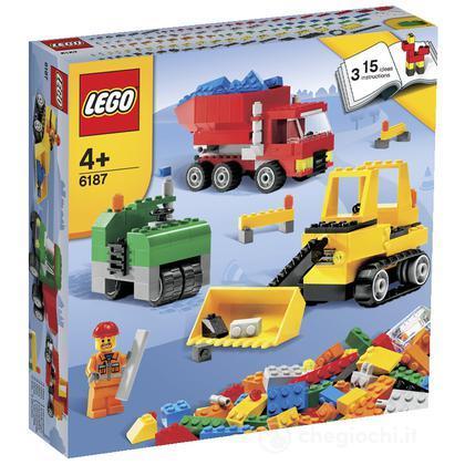 Lego mattoncini costruisci il tuo cantiere 6187 for Costruisci il tuo bungalow