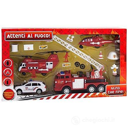 Mezzi Pompieri con accessori